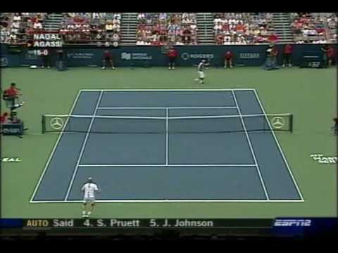 Incredible shot from Agassi - a great reminder of the advantages of taking the ball early
