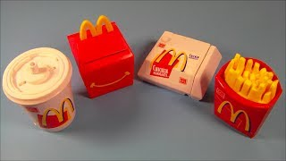 Repeat youtube video 1999 FOOD FOOLERS SET OF 4 McDONALDS HAPPY MEAL KIDS TOYS VIDEO REVIEW