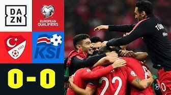 Türkei löst EM-Ticket, Island verpasst direkte Qualifikation: Türkei - Island 0:0 | EM-Quali | DAZN