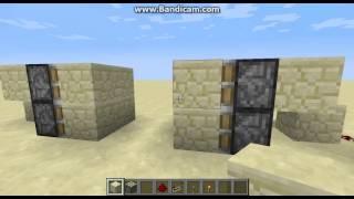 майнкрафт механизмы #1:видео урок дверь на рычаге