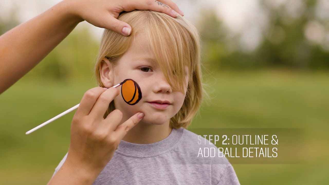 Game Day Spirit Easy Basketball Face Painting Design