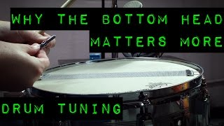 Drum Tuning - Why the Bottom Snare Head Matters More