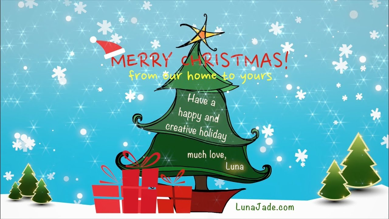 We Wish You A Merry Creative Christmas Animated Christmas Card From