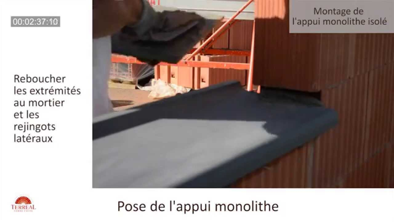 pose dun appui monolithe isol youtube pose tablette fenetre interieur