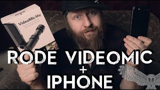 how to use the rode video mic ME with the iphone 7 8 or X (no headphone jack)