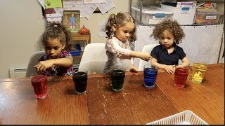 Learning Colors Preschool Project: Sesame Street Fizzy Tablets
