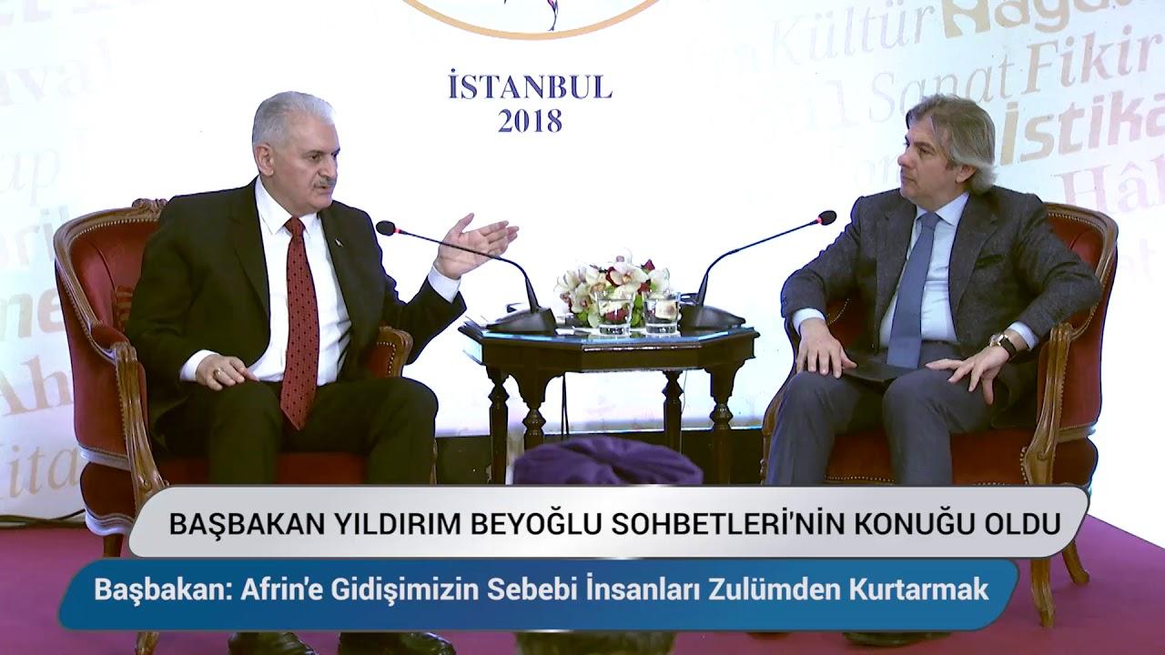 Başbakan Yıldırım Beyoğlu Sohbetleri'nin Konuğu