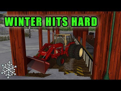 SNOW RUINED OUR GRASS AND STRAW SUPPLY | Farming Simulator 2017 thumbnail