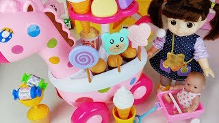 Play doh and Baby doll food car toys cooking play - 토이몽