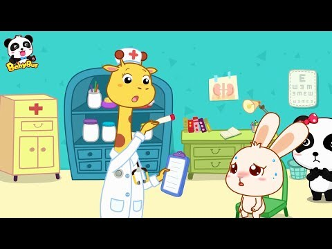 しつけ絵本★モモちゃんが病気になった!  お医者さんごっこ  読み聞かせ 絵本   赤ちゃんが喜ぶアニメ   動画   BabyBus