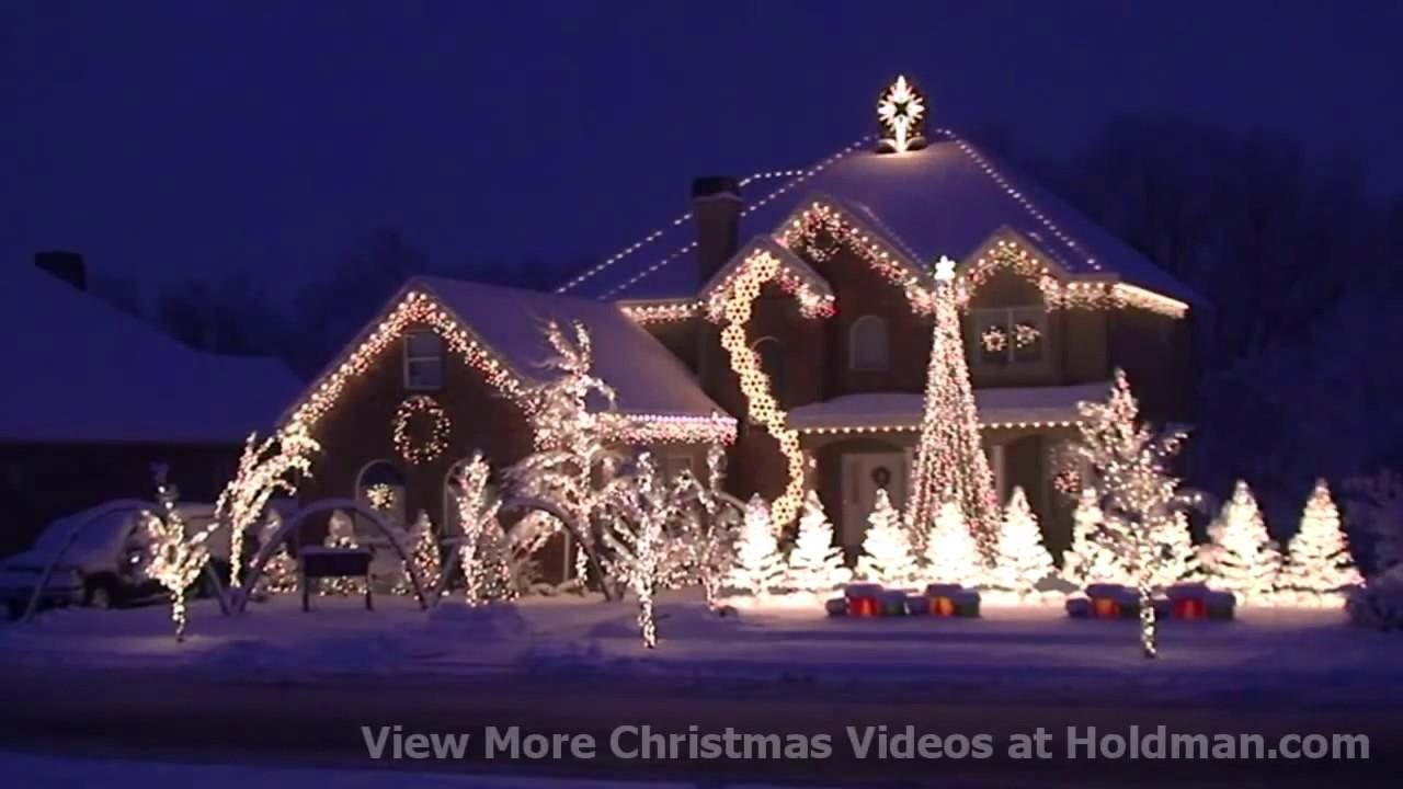 Holdman Christmas Lights Amazing Grace Techno YouTube