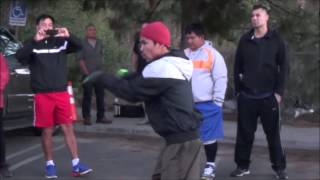 Manny Pacquiao shadow boxing
