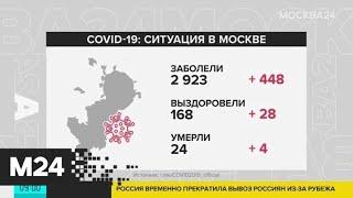 В Москве умерли еще 4 пациента с коронавирусом - Москва 24