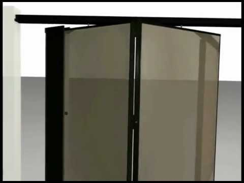 Operable Partition Animated Paired-Panel Set Up