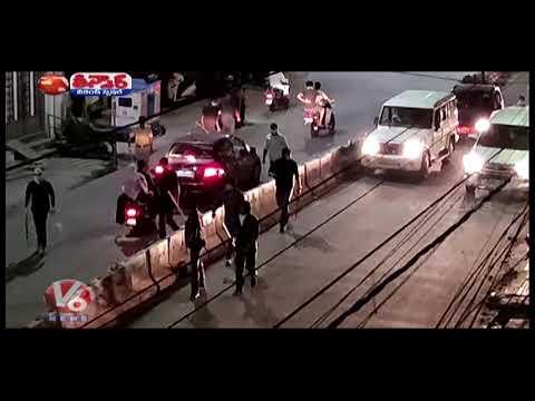 Traffic Free Roads In Hyderabad Due Telangana Lockdown | V6 Teenmaar News