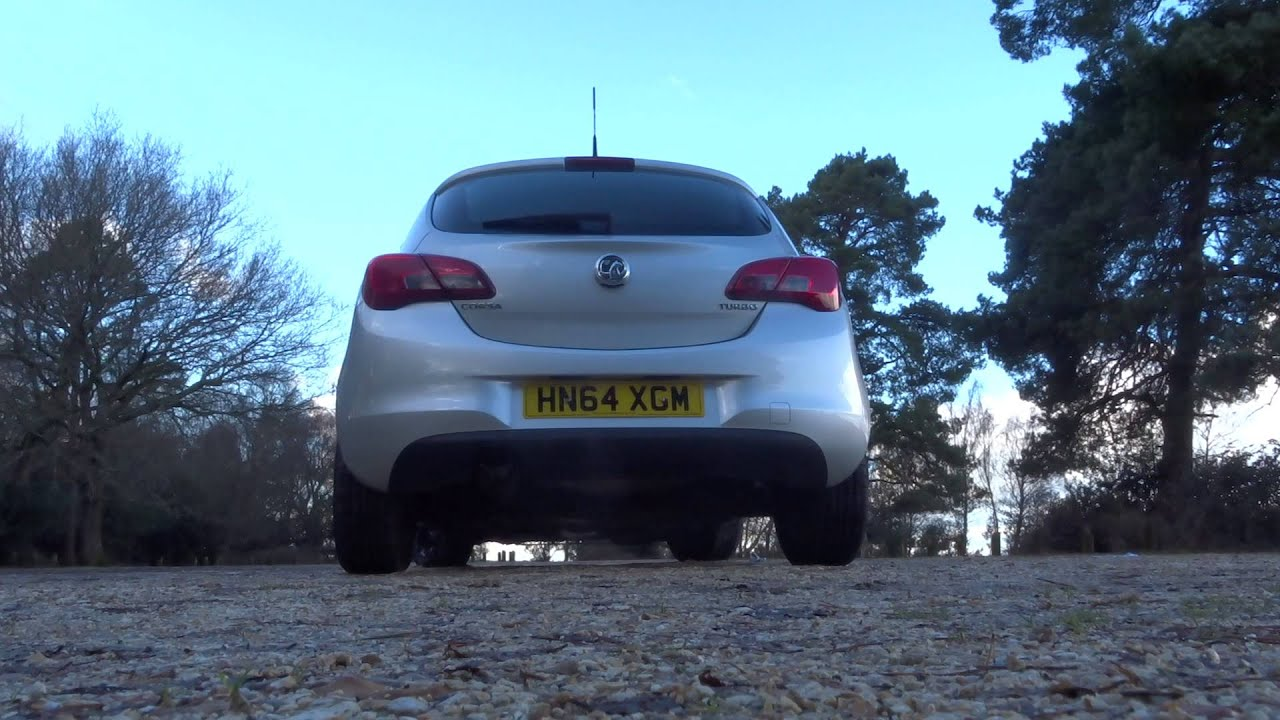 Vauxhall/opel corsa SRI 1.4t standard exhaust with lil ...