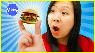 RYAN'S MOMMY TRIES MINI FOOD YOU CAN ACTUALLY EAT CHALLENGE !