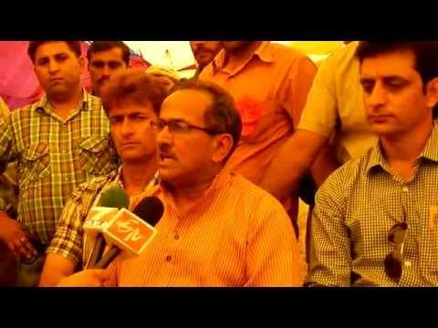Dr. Nirmal Singh addressing Media person on Militancy in Doda and Jammu & Kashmir