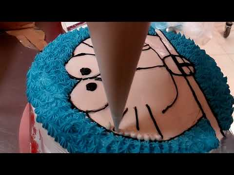 DORAEMON -- Cara Membuat Kue Ulang Tahun  Karakter Doraemon