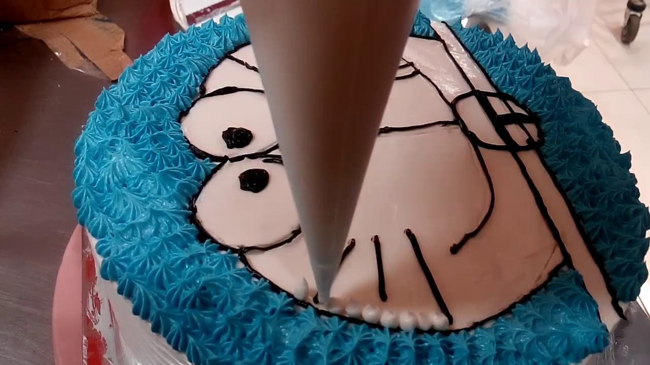 Doraemon Cara Membuat Kue Ulang Tahun Karakter Doraemon Youtube