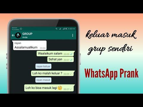 Trik keluar dan masuk sendiri di grup WhatsApp - YouTube
