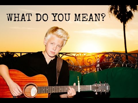 Justin Bieber - WHAT DO YOU MEAN? (Live acoustic cover by Carson Lueders)