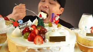 뚜레쥬르 우유크림케이크와 우유 먹방~!! 리얼사운드 A…