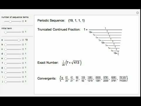 Repeating Continued Fractions