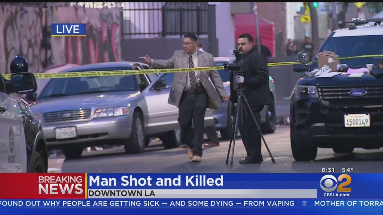 Man Found Shot To Death In Downtown LA's Skid Row
