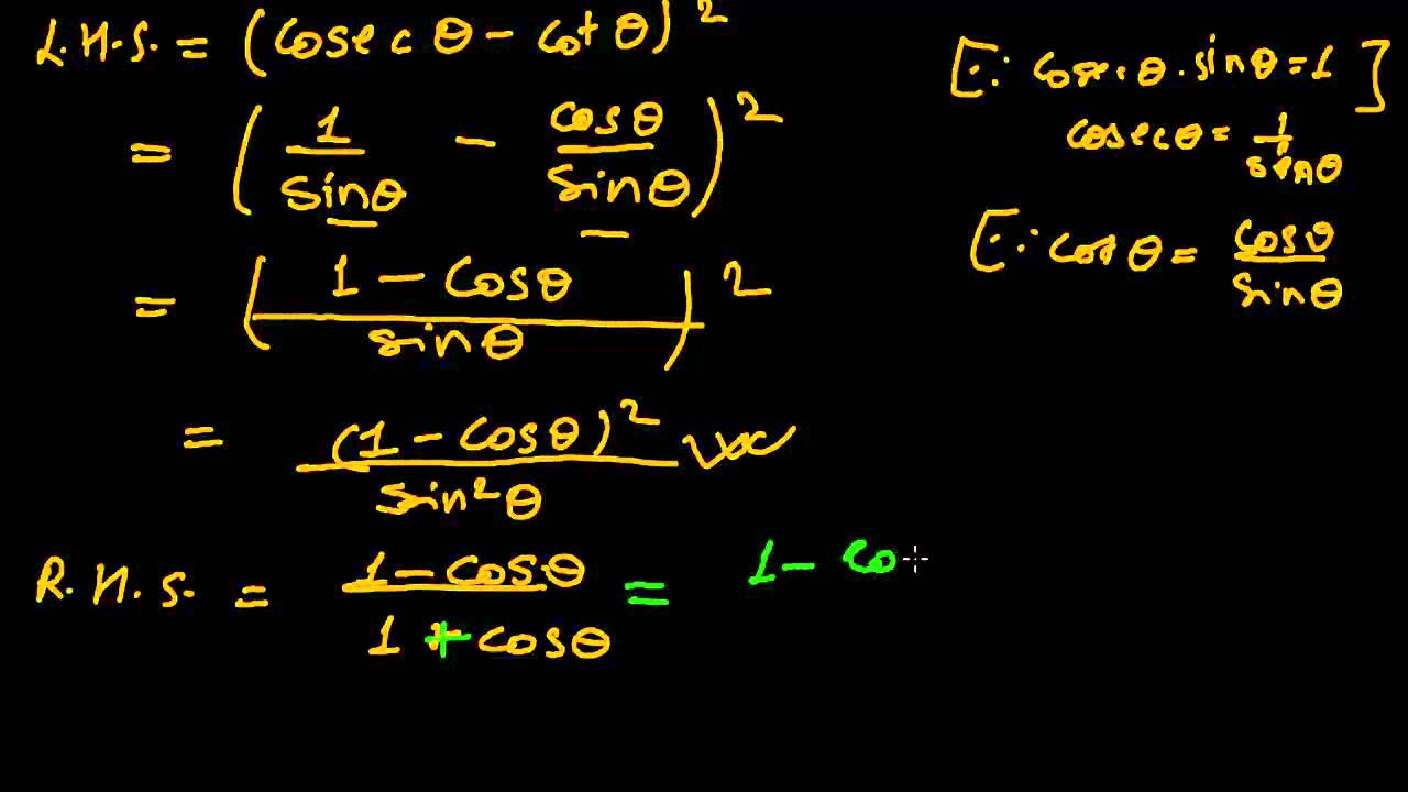 How to Solve Trigonometric Identities Proving Problems -1 - YouTube