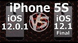iPhone 5S : iOS 12.1 Final vs iOS 12.0.1 Speed Test (Build 16B92 / 16B93)