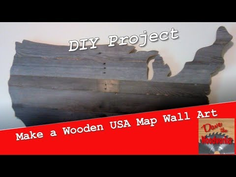 Make A Wooden Usa Map Wall Art Out Of Pallets