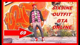 GTA 5 Online TEKASHI 6IX9INE Outfit Tutorial -  best Outfit / HOW TO MAKE 69