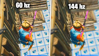That's why I like to play in 144FPS on FORTNITE...