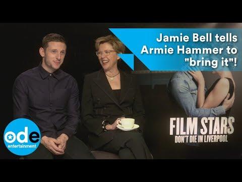 "Jamie Bell tells Armie Hammer to ""bring it""!"