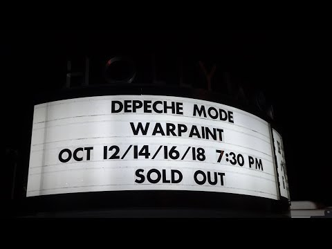 Depeche Mode concert - live - Hollywood Bowl - Global Spirit Tour -Los Angeles CA - October 12, 2017