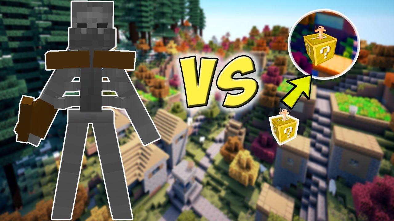 Esqueleto Mutante Gigante Vs Mini Batalha Lucky Block Minecraft