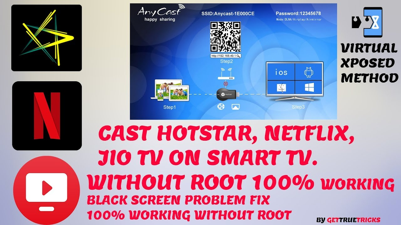 How to cast hotstar on tv without root | watch android screen to tv 2019 by  GET true TRICKS