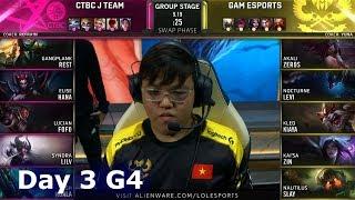 JT vs GAM | Day 3 S9 LoL Worlds 2019 Group Stage | J Team vs GAM Esports
