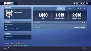 """1000th Solo Win"" Fortnite (Season 4)"