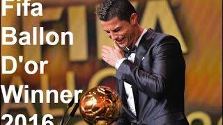 Cristiano Ronaldo Wins BALLON D'OR~~Award~~2016/2017