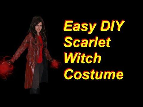 Diy Scarlet Witch Costume Civil War Infinity War Version Youtube