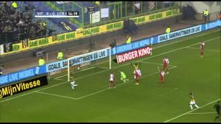 15' Doelpunt Mike Havenaar, Vitesse - FC Utrecht, 1-0