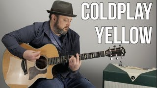 how to play -yellow- by coldplay on guitar