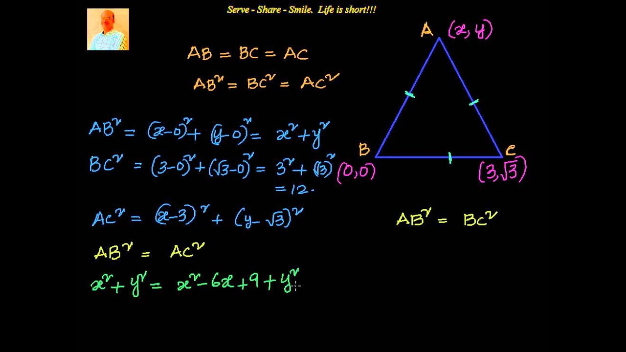 Coordinate Geometry How To Find The Third Vertex Of An Equilateral