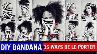 🇫🇷 🌍 DIY BANDANA CONVERTIBLE + 15 WAYS DE LE PORTER 🇫🇷  FACE CACHÉE feat JPG MARINIER + SEFYU