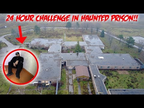 HAUNTED PRISON 24 HOUR OVERNIGHT CHALLENGE! | MOE SARGI