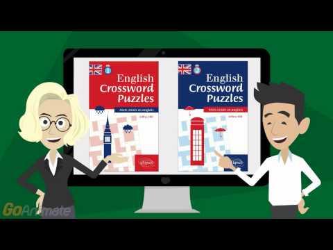 English Crossword Puzzle Books - Levels 1 & 2