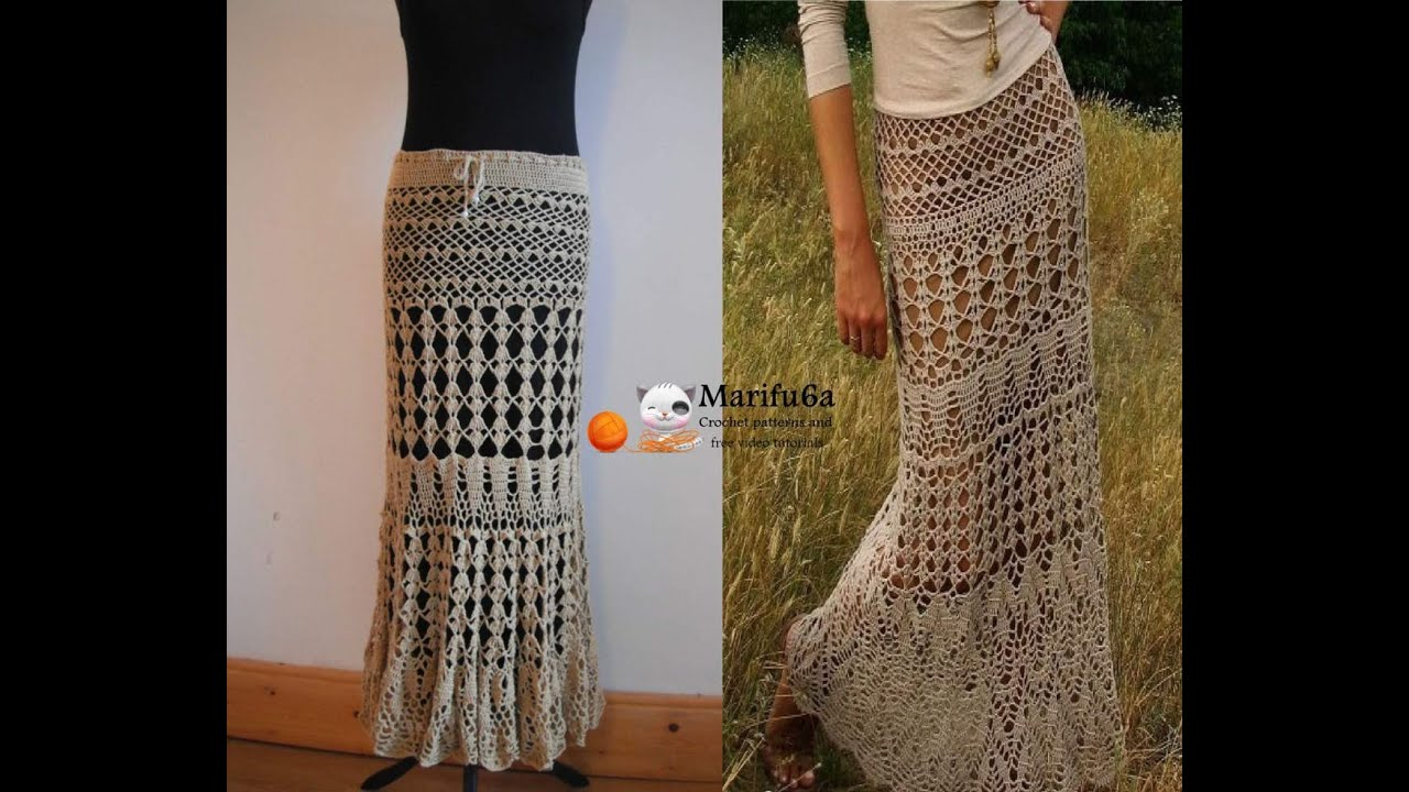 Free Crochet Pattern For Cowgirl Skirt : How to crochet maxi skirt free pattern tutorial by ...