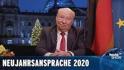 Die ehrliche Neujahrsansprache für 2020 – von Gernot Hassknecht | heute-show